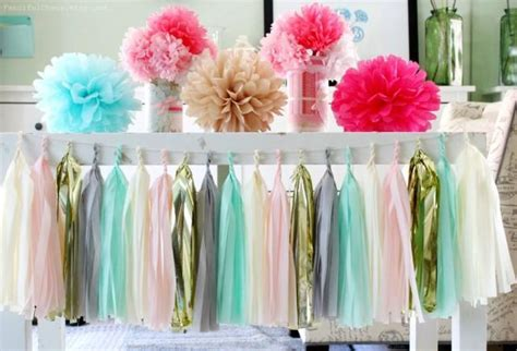 Mint Green, Light Pink, Grey, Cream, Gold Tissue Paper