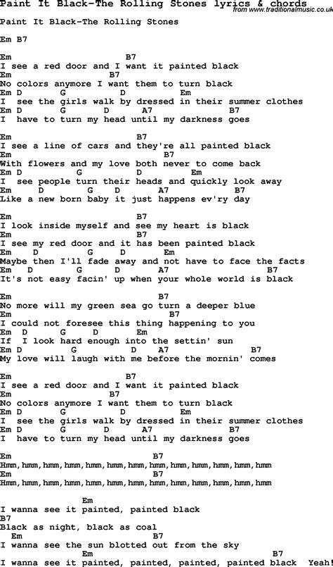 black lyrics paint it black lyrics fobuki81 痞客邦