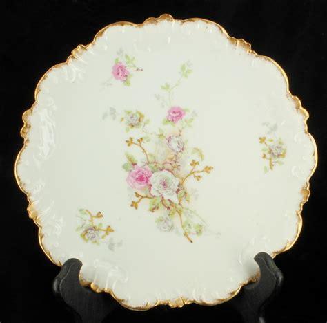 Flower Salad 3l antique b h limoges porcelain luncheon 8 5 quot salad