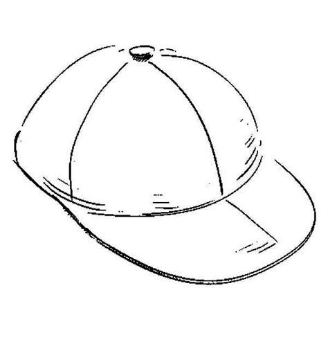 baseball cap sketch of baseball cap coloring page