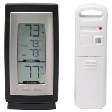 acurite backyard weather thermometer acurite wireless digital weather thermometer 00826hd the home depot