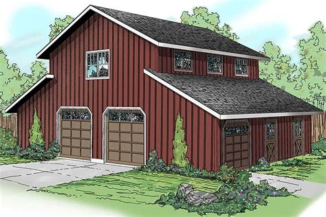 country style  car garage apartment plan