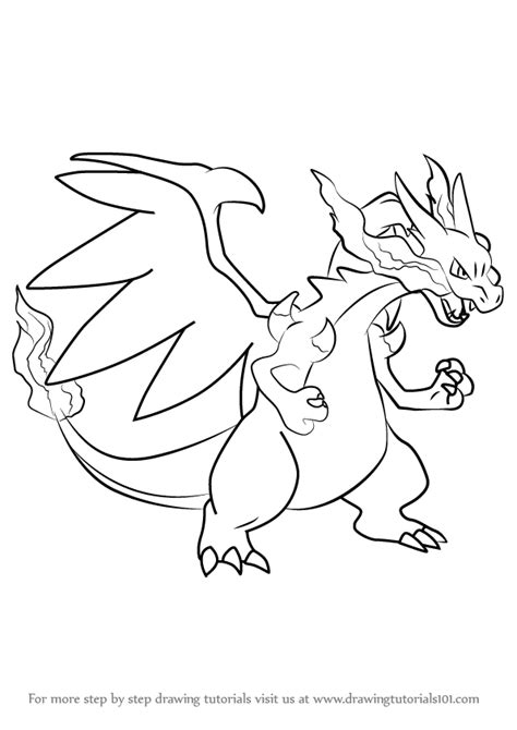 Charizard Y Drawing by Learn How To Draw Mega Charizard X From