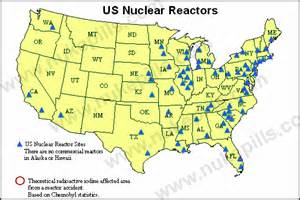 maps of u s nuclear reactor locations with zip code locator