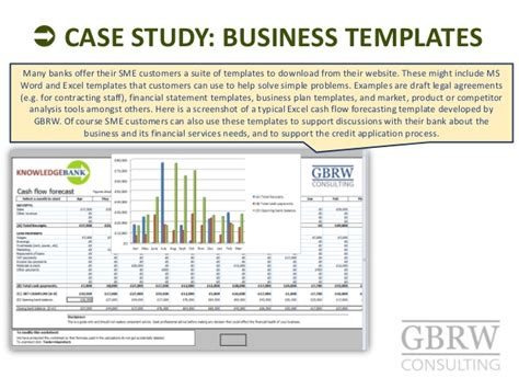 sme business plan template non financial services in sme banking