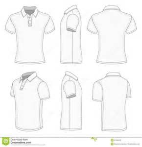 men s white short sleeve polo shirt stock photo image