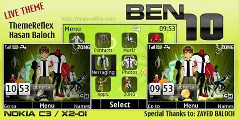 nokia 5130 ben 10 themes ben10 live theme for nokia c3 x2 01 themereflex