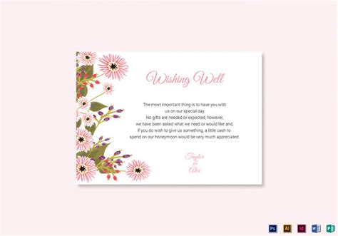 wishing well card template 45 wedding card templates psd ai vector eps free