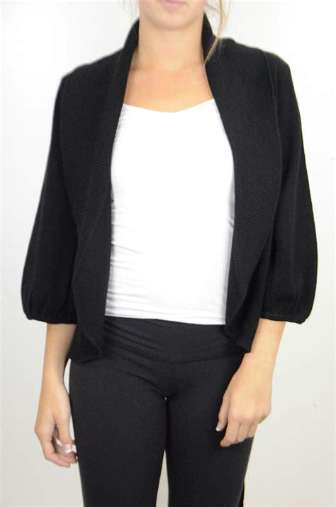 Tie Collar Sweater l bcbg maxazria black open front shawl collar cardigan