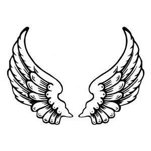 Simple Wing Outline by Baby Black Simple Small Outline Drawing White Polyvore