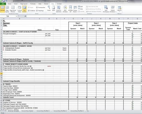 nih budget template grant budget template budget template free