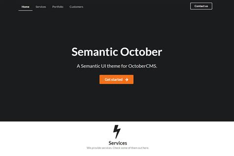 semantic ui layout exles semantic october theme october cms