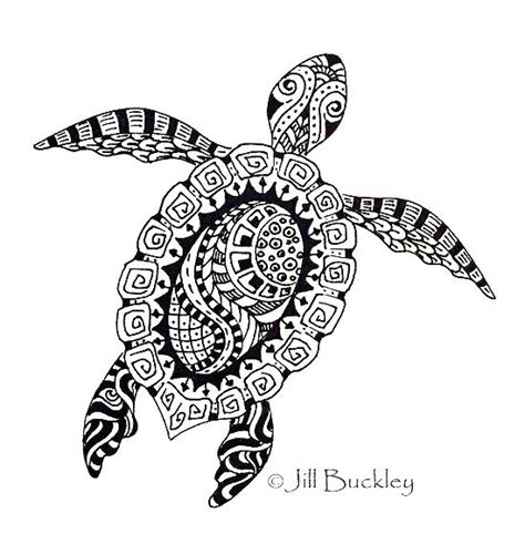intricate turtle coloring page turtle mandala zentangle coloring picture art coloring