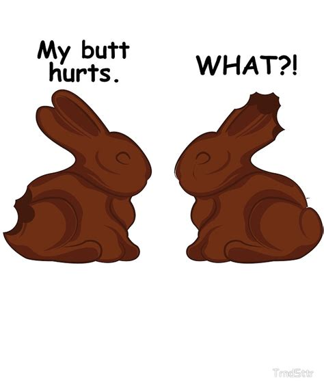 Chocolate Easter Bunny Meme - quot funny easter bunny meme hollow chocolate quot by trndsttr redbubble