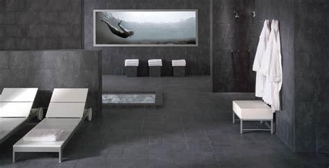 badezimmer deko anthrazit schiefer fliesen zum schwarz dekorationen badezimmer