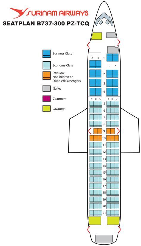 boeing 737 300 plan si鑒es boeing 737 300 surinam airways