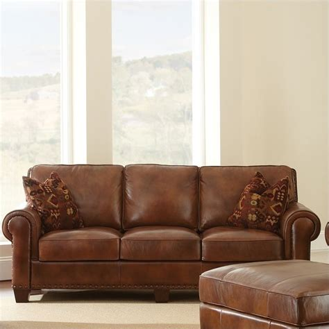 Steve Silver Company Silverado Leather Sofa In Caramel Steve Silver Leather Sofa
