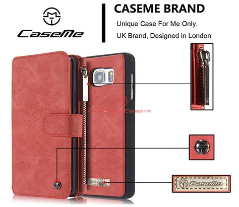 Caseme Samsung Galaxy Note 5 Note5 Wallet Leather caseme samsung galaxy note 5 zipper wallet detachable 2 in