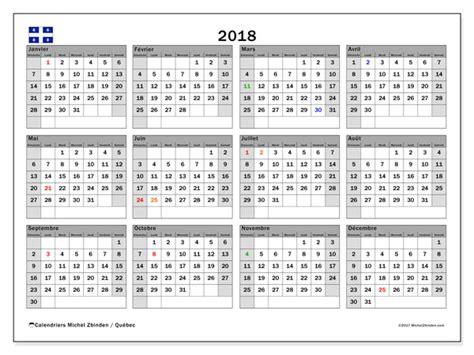 Calendrier Canada 2018 Calendrier 2018 A Imprimer