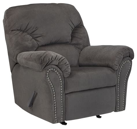 charcoal recliner kinlock charcoal rocker recliner from ashley 3340025