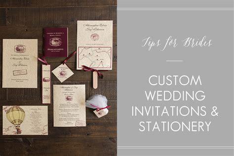 Custom Wedding Stationery by Custom Wedding Invitations Stationery Tips For Brides