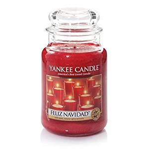 amazon yankee candle amazon com yankee candle feliz navidad large jar candle