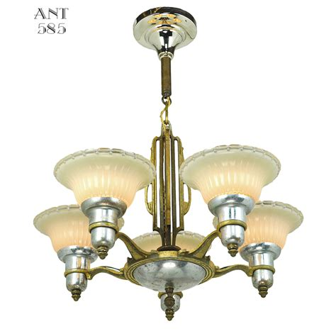 deko kronleuchter deco streamline chandelier arm light fixture by mid