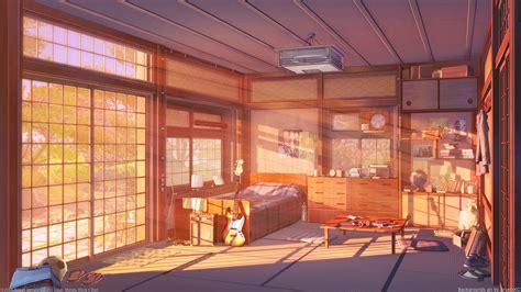 wallpaper anime room room sunset version by arsenixc on deviantart