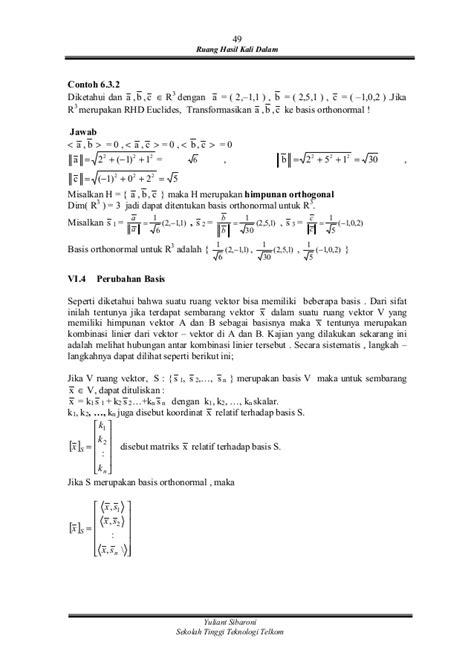 Buku Ajar Pengantar Aljabar Linear contoh himpunan ruang vektor this mommas misadventure
