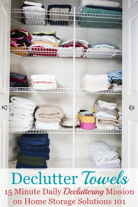 home storage solutions 101 how to declutter towels wash cloths