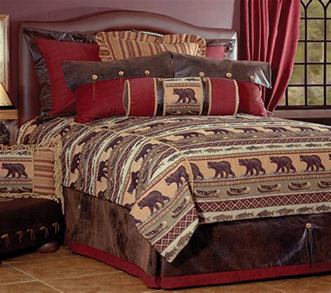 cabin themed bedding kodiak creek cabin bedding wooded river rustic lodge