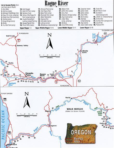 rogue river map oregon quot rogue river oregon map great rivers angler s quot