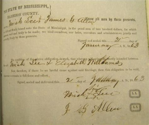 Harrison County Marriage Records Uriah And Elizabeth Williams