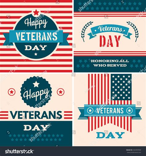 Cards For Veterans Template by Veterans Day Greeting Card With Typographic Design In