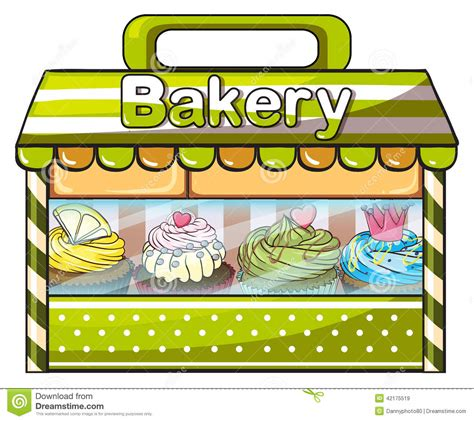 Store Awnings Prices A Green Bakery Store Stock Vector Image 42175519