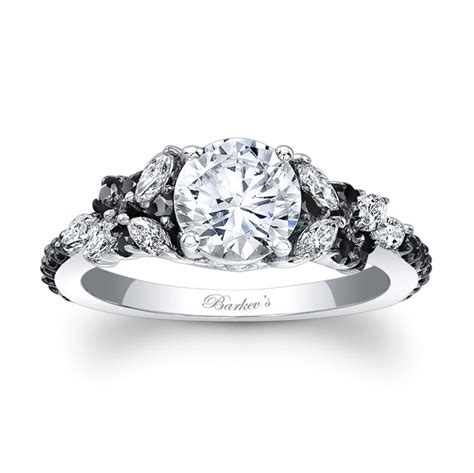black diamond engagement ring  www