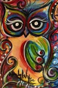 beautiful owl painting owls pinterest