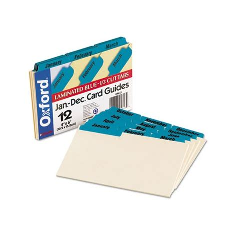 Oxford Index Card Tab Template by Oxford Laminated Tab Index Card Guides Oxf04613