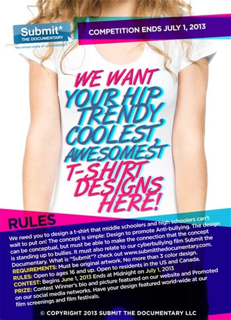graphic design contest for high school students t shirt graphic design contest to promote anti bullying
