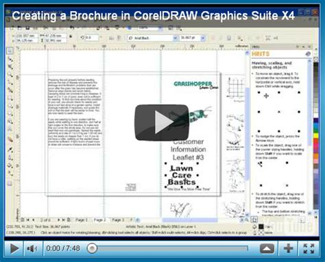 tutorial corel website creator 20 brochure design tutorials
