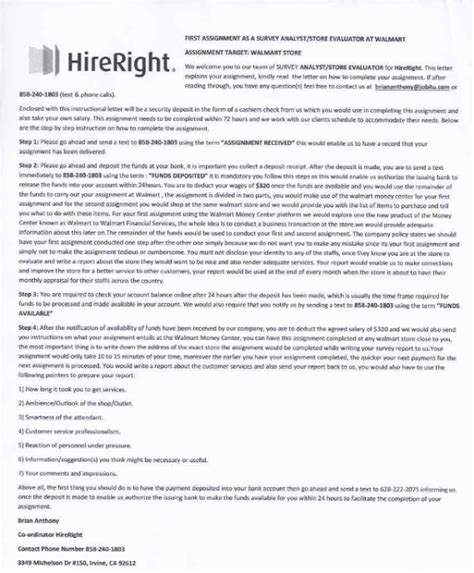 Hireright Background Check How Secret Shopper Scam Hireright