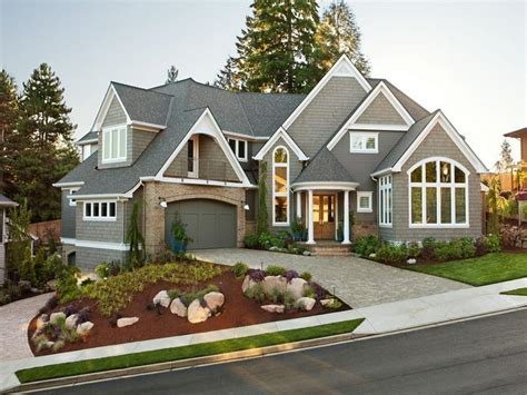 awesome landscaping western style house exterior designs