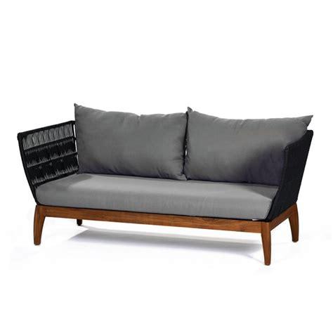 lambert miikka outdoor sofa mit wp holzgestell teak