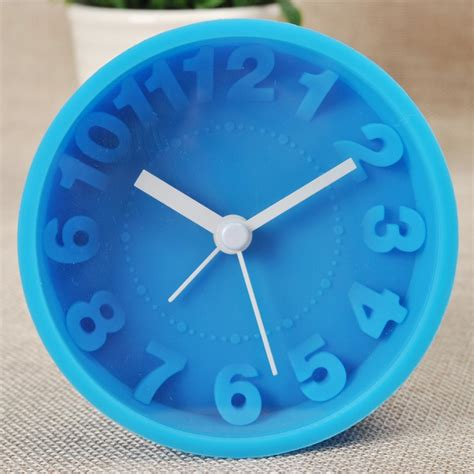 Jam Alarm 3d Bahan Silicone T1910 1 jam alarm 3d number silicone clock blue jakartanotebook