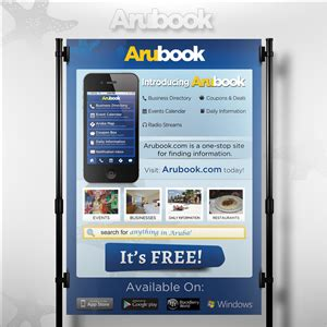 designcrowd mobile app arubook mobile app introduction flyer flyer design
