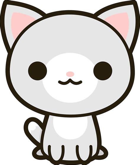 imagenes kawaiis de gatos pegatinas 171 kawaii gato gris y blanco 187 de peppermintpopuk