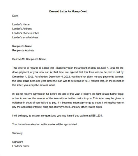 legal letter template 9 free word pdf documents