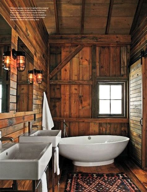 cabin bathroom bathrooms