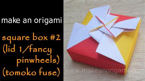 Origami Fancy Box - origami diy square origami box gathering origami