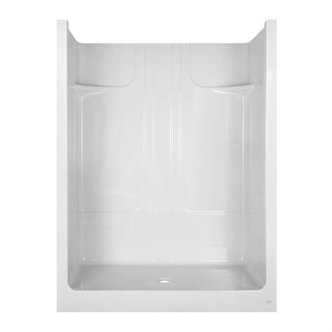 Aqua Glass Shower by Shop Aqua Glass 79 1 2 In H X 36 3 8 In W X 59 7 8 In L Acrylic Showers White 1 Shower At